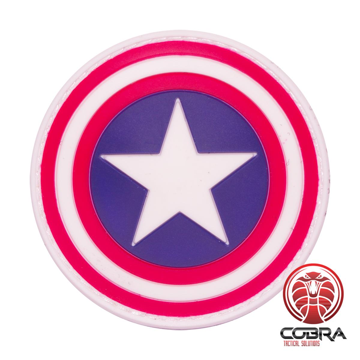 Captain America shield Avengers movie cosplay PVC patch   velcro ...