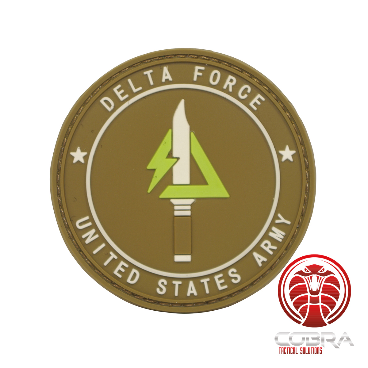 Delta Force United States Military 3d Pvc Badge Brown With Velcro