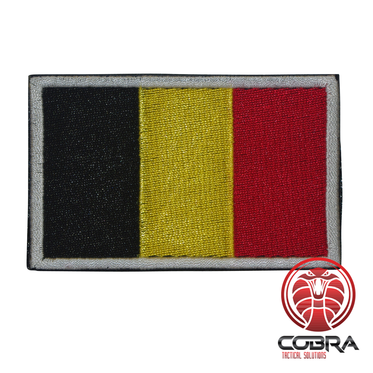 Flag Belgium military embroidered country patch with velcro