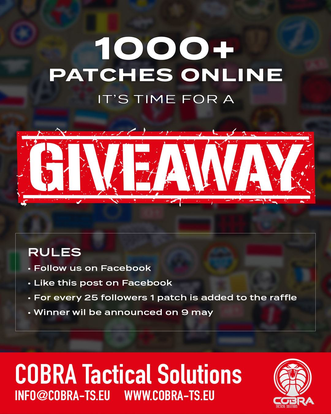 1000+ Patches online, it's time for a giveaway!! Giveaway-v1